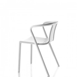 Air-Armchair krzesło z podłokietnikami, kolor biały