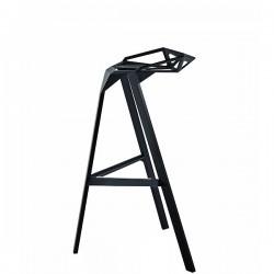 Stool One krzesło barowe średnie, kolor czarny