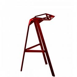 MAGIS Stool One krzesło barowe średnie, kolor czerwony