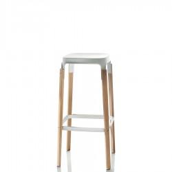 MAGIS Steelwood Stool krzesło barowe, wysokie