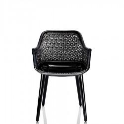 MAGIS Cyborg elegant fotel z oparciem z wikliny