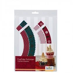 Birkmann Christmas fartuszki ozdobne do muffinów 12szt