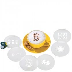Szablony do cappuccino 6szt