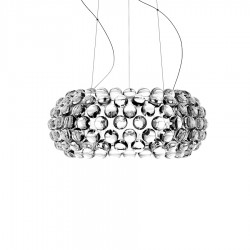 FOSCARINI Caboche lampa wisząca, średnia, kolor transparentny