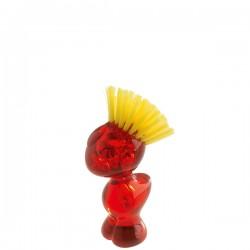 Tweetie szczotka do mycia warzyw, kolor czerwony