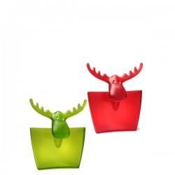 Rudolf pojemnik na kubek, przezroczysty 2 szt
