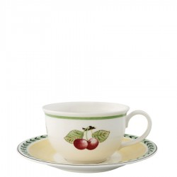 Villeroy & Boch French Garden Charm Breakfast filiżanka XL do białej kawy ze spodkiem