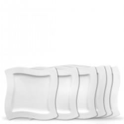 Villeroy & Boch New Wave zestaw talerzy śniadaniowych, 6 sztuk