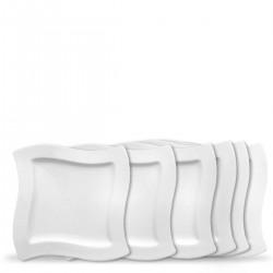 Villeroy & Boch New Wave zestaw talerzy obiadowych, 6 szt