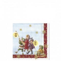Villeroy & Boch Winter Specials Toys Napkin St.Claus serwetki świąteczne