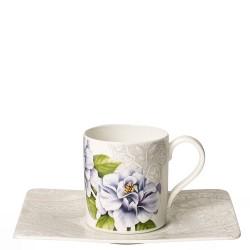 Villeroy & Boch Quinsai Garden filiżanka do kawy ze spodkiem
