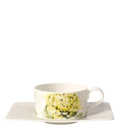 Villeroy & Boch Quinsai Garden filiżanka do herbaty ze spodkiem