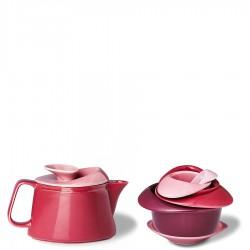 PO: Rose zestaw do herbaty czerwony