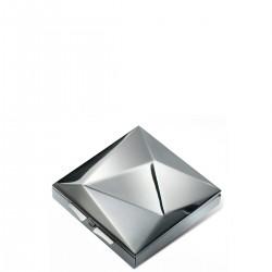 PO: Pudełko na lekarstwa błyszczące srebrne
