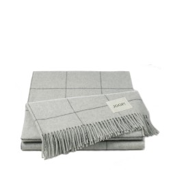 Wool Squares Silver pled wełniany