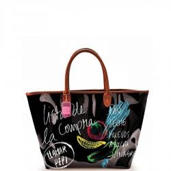 Iris Market Bag torba na zakupy, hiszpańskie napisy