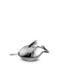 Alessi Colombina naczynie do kawioru z łyżeczką