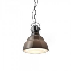 Glas lampa wisząca, kolor brązowy