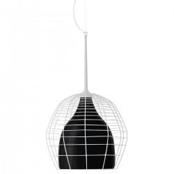 Diesel Foscarini Cage lampa wisząca, kolor biało-czarny