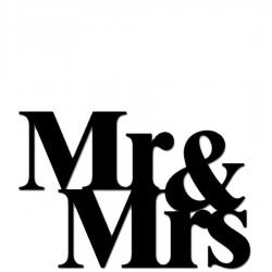 Mr & Mrs Napis dekoracyjny