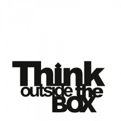DekoSign Think outside the box Napis dekoracyjny