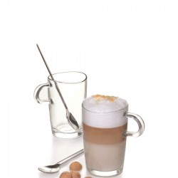 Loop szklanki do latte z łyżeczkami, 2 szt