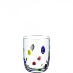 Millefiori szklanka niska
