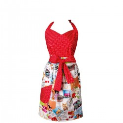 Mavia Rania Wizyta w Paryżu Apronessa jak sukienka