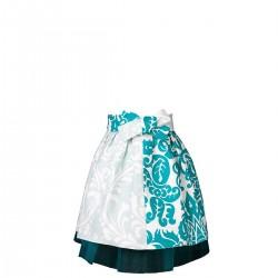 Mała księżniczka Tiul i błękitne ornamenty apronessa dla dziewczynek