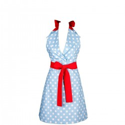 Charlotte Grochy na błekicie Apronessa jak sukienka, z polskich tkanin