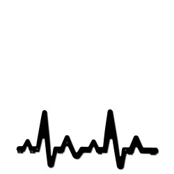 Briso Design EKG z haczykami wieszak na ubrania