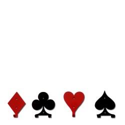 Briso Design Poker komplet wieszaków na ubrania, 4 szt.