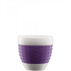 Bodum Pavina porcelanowe kubki, fioletowe, 2 szt