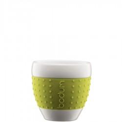 Bodum Pavina porcelanowe kubki, zielone, 2 szt