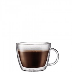 Bistro filiżanki izolowane do latte, 2 szt