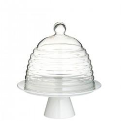 Kitchen Craft GLASS DOME patera porcelanowa z kloszem