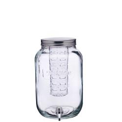 Słój szklany z kranikiem i wkładem na owoce