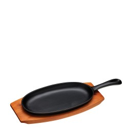 Kitchen Craft World of Flavours patelnia żeliwna podłużna z deską do serwowania
