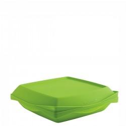 Mastrad Mastrad Naczynie do zapiekania z silikonu i porcelany, zielone