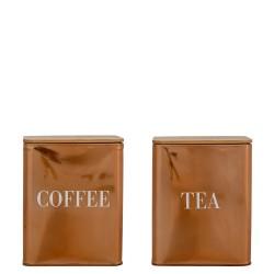 Coffee Tea pojemnik na kawę i herbatę 2 szt