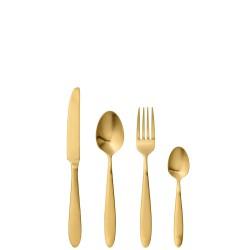 Gold komplet sztućców dla jednej osoby