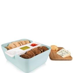 Tomorrows Kitchen Bread & Dip Vintage chlebak z pojemnikami na dip
