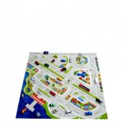Miasto portowe Dywan 3D