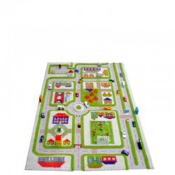 Miasto zabaw Dywan 3D - zielony