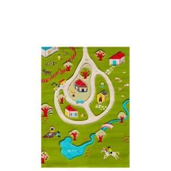 IVI Carpets Wioska Dywan Soft Play - turkusowy