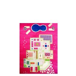 Domek dla lalek Dywan 3D - różowy