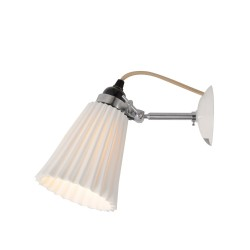 Original BTC Hector Medium Pleat Natural lampa ścienna, kinkiet