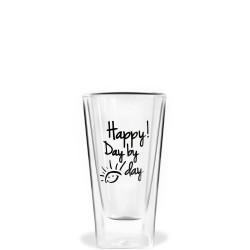 Vialli Design Vita szklanka wysoka z podwójną ścianką Happy! Day by day