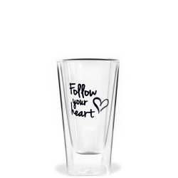 Vialli Design Vita szklanka wysoka z podwójną ścianką Follow your heart