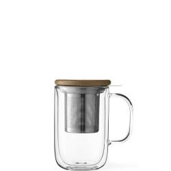 Minima Duo kubek z zaparzaczem szklany